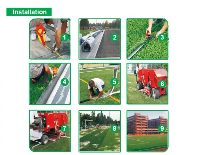 10 Mm Blue Artificial Grass Tennis Court Synthetic PE Durable SGS Approved