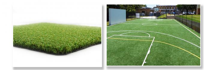 Basketball Court Hard Wearing Artificial Grass Durable And Safety PE Fibrillated