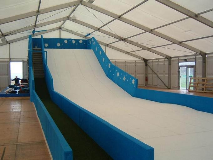White Artificial Ski Slope Synthetic Grass22 mm