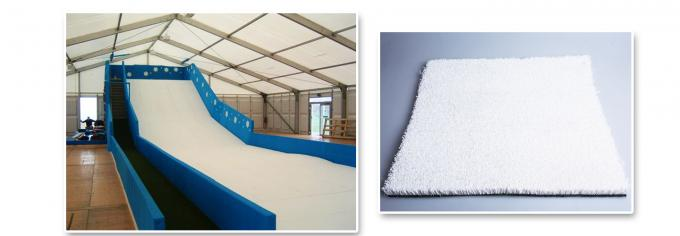 22mm White Artificial Ski Slope Grass Fibrillated Yarn Indoor Ski Simulator