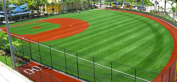 Eco Friendly Baseball Artificial Turf Non Infill 45mm Baseball Synthetic Turf