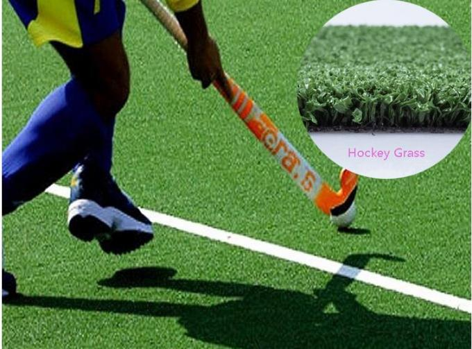 Water Based / Sand Artificial Grass For Hockey Fields 5mm Diameter 6600 Density