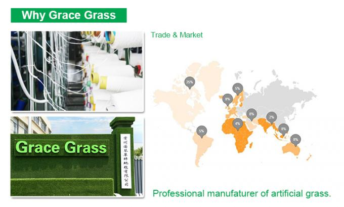 UV Resistance Synthetic Artificial Grass For Baseball Field Safe 45mm Height