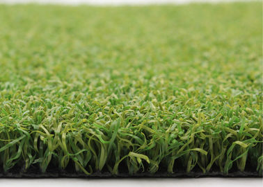 China 15mm Golf Artificial Turf PP Curled Yarn Bicolor Backyard Artificial Putting Green supplier