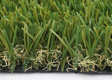 China Customized W Shape Artificial Grass Garden 40mm 14700 Density Synthetic supplier