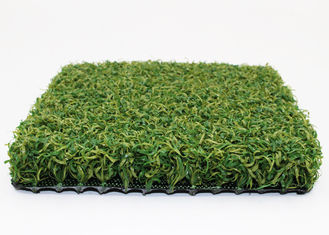 China 2 Tone 6600 Dtex Synthetic Basketball Court Grass PE Material 15mm S Shape supplier