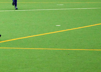 China Plastic Artificial Grass For Playground Hockey Anti - UV Dark Green Outdoor Sport supplier