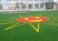 China Safe And Soft Colorful Landscaping Artificial Grass For Kindergarten 25mm factory