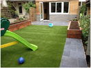China Landscaping Playground Synthetic Turf Grass Nature 45mm High Density V Shape factory