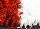 China High Density 10mm Synthetic Cricket Pitch Turf Red And White With Soft Touching factory