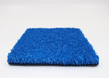 PE Fibrillated 10 mm Gym Blue Artificial Grass Crossfit 8800 Dtex Non Infill