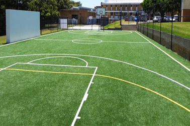 Customized 15mm Artificial Grass For Basketball Field Outdoor SGS Approved
