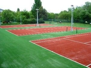 NO Heavy Metal Tennis Court Artificial Grass Removable Natural Looking Artificial Grass